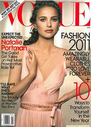 Natalie Portman na okładce styczniowego numeru Vogue
