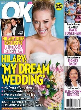 Hilary Duff i jej syrenia suknia ślubna