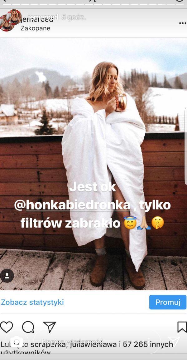 Ten moment, gdy Honorata Skarbek próbuje odtworzyć zdjęcie Jessiki Mercedes...