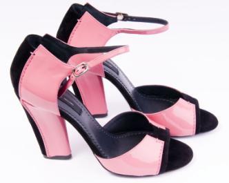 Różowo-czarne sandałki od Jacobsa