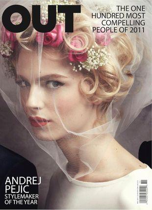 Andrej Pejic na okładce OUT Magazine
