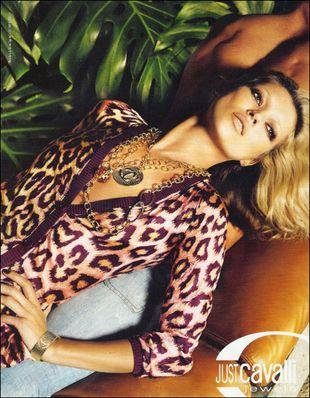 Kate Moss w reklamie Just Cavalli