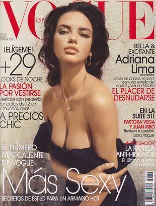 Adriana Lima w hiszpańskim Vogue