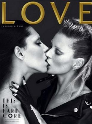 Namiętny pocałunek Kate Moss i Lei T