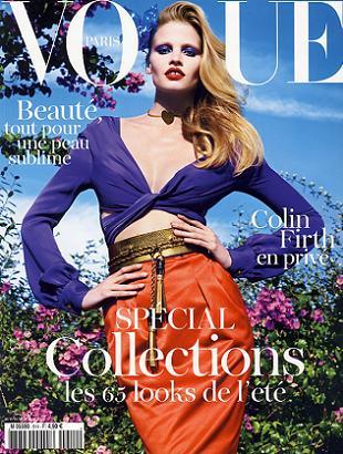 Lara Stone po raz kolejny na okładce Vogue Paris