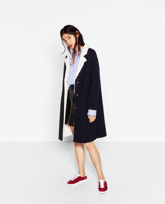 Must have na zmię 2016 - Modny klasyczny płaszcz Zara