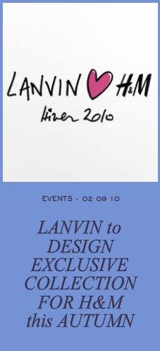 Lanvin dla H&M - już w listopadzie!