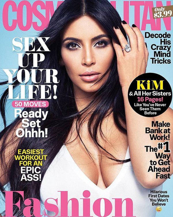 Kim Kardashian podsumowała swoje ulubione okładki z 2015