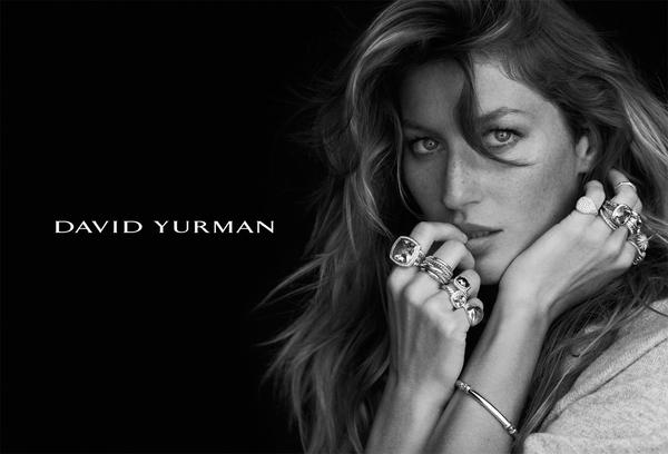 Gisele Bundchen w kampanii marki David Yurman