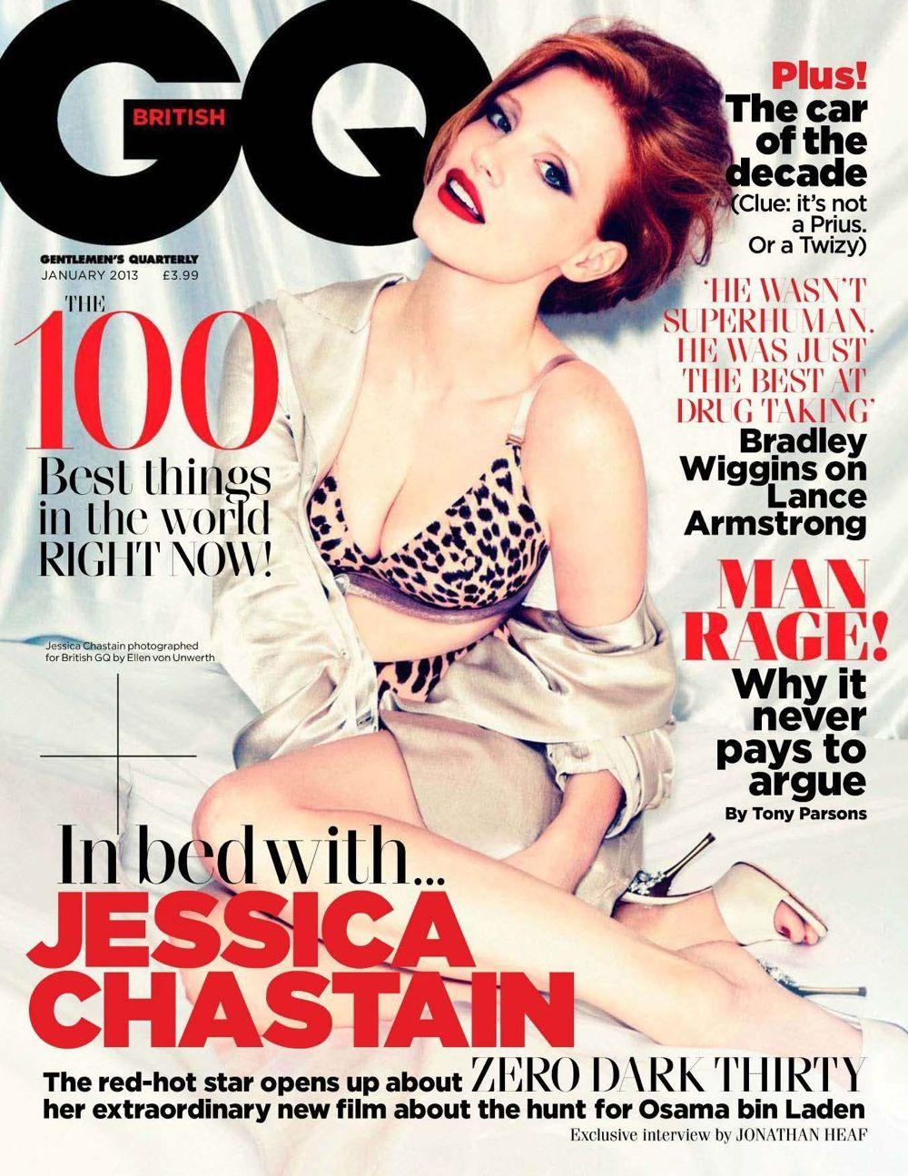 Jessica Chastain na okładkach