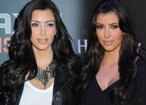 Włosy w stylu Kim Kardashian