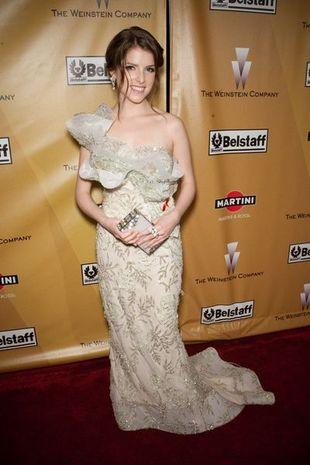 Anna Kendrick w miętowej sukience