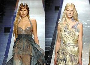 moda, pokazy mody, chanel, gaultier, wiosna lato 2008, haute couture, trendy