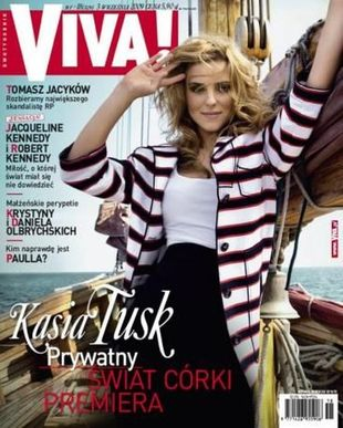 Kasia Tusk ma własną rubrykę w modowym magazynie