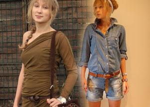 Wasze stylizacje - dzins i khaki u Agaty