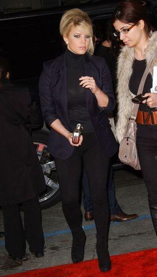 Jessica Simpson w czarnym zestawie