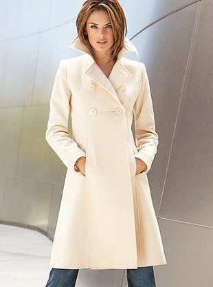 Płaszcz odcinany pod biustem