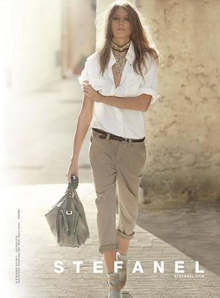 Daria Werbowy w kampanii reklamowej marki Stefanel