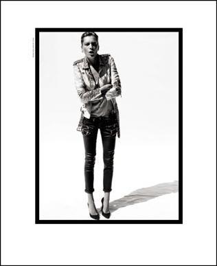 Daria Werbowy w kampanii reklamowej Balmain
