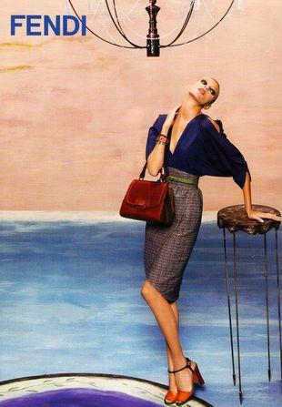 Kolejna kampania Fendi z udziałem Anji Rubik (FOTO)