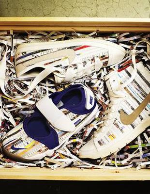 Co łączy stare gazety i sportowe buty?