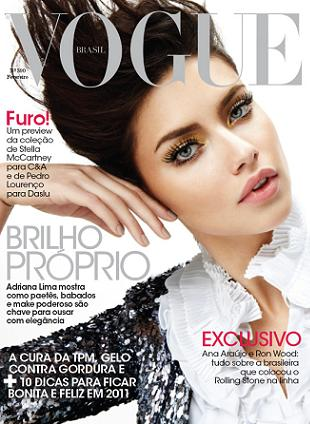 Adriana Lima na okładce brazylijskiego wydania Vogue