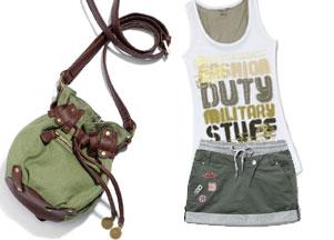 Militarna kolekcja Cropp