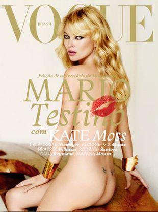 Naga Kate Moss na okładce Vogue Brasil