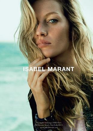 Gisele Bundchen w kampanii reklamowej Isabel Marant