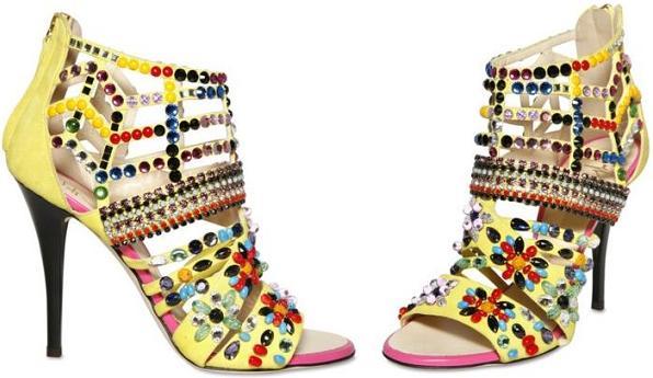 Kolorowe buty od Zanottiego na wiosnę