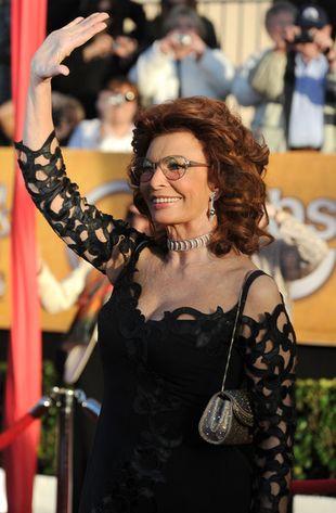Sophia Loren w sukni od Armaniego