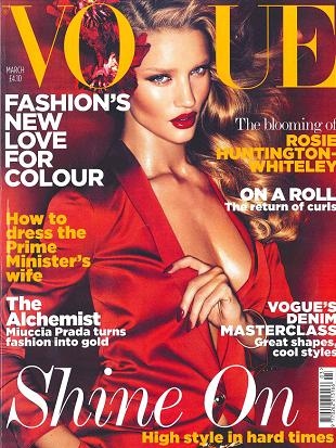 Rosie Huntington-Whiteley na okładce brytyjskiego Vogue