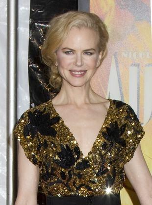Nicole Kidman skąpana w złocie