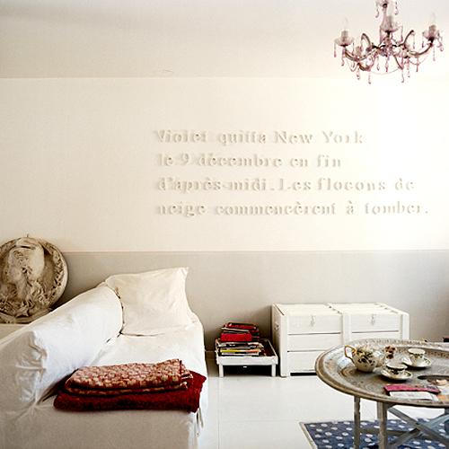Biała dama - kolor w domu