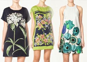 Zara - kwieciste sukienki