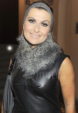 Katarzyna Skrzynecka w skórzanej sukience (FOTO)