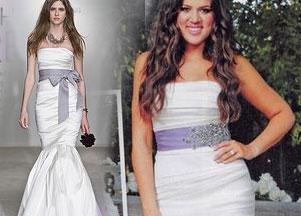 Suknia ślubna Khloe Kardashian