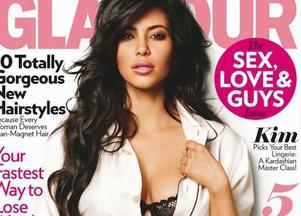 Kim Kardashian w sesji dla Glamour (FOTO)