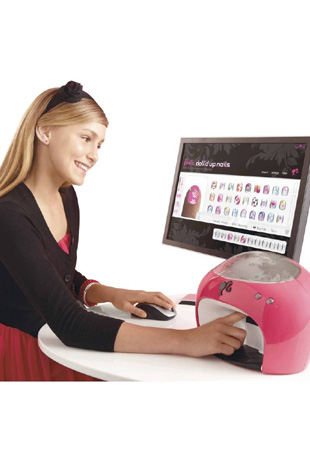 barbie doll'd up nails digital printer