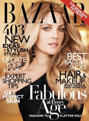 Drew Barrymore w Harper's Bazaar