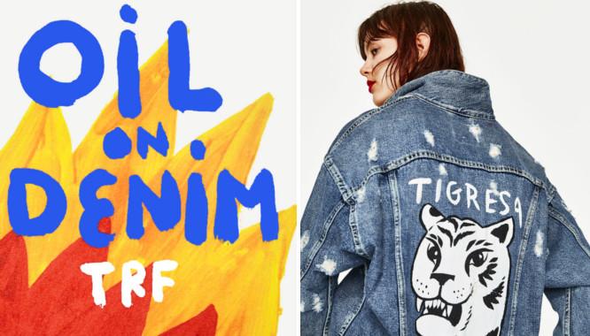 Zara TRF Oil on Denim - Jeans i kolorowe wzory na lato 2017