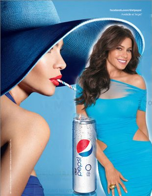 Sophia Vergara na plakacie Pepsi Light
