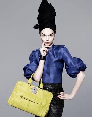 Sasha Pivovarova w kampanii Longchamp