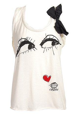 Patrząca, filuterna koszulka Lanvin