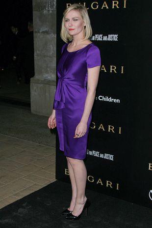 Kirsten Dunst w fioletowej sukience od Prady  (FOTO)