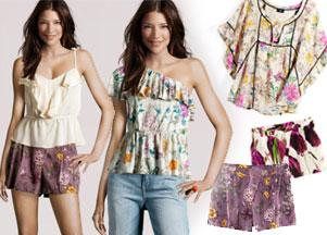 H&M - kwitnące bluzki, sukienki, szorty