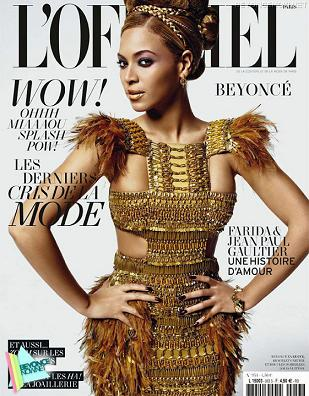 Beyonce w złocie na okładce marcowego numeru L'Officiel