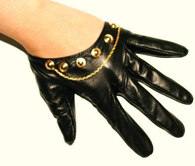Króciutkie, skórzane rękawiczki
