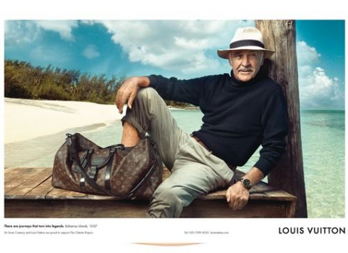 Sean Connery w reklamie Louis Vuitton