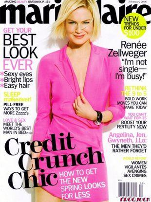 Renee Zellweger dla Marie Claire